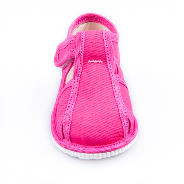 72b013c011 Detská obuv - papuče s uzavretou špicou cyklamenové