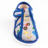 Papuče bager šedo modrý