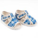 Papuče folklór modrá