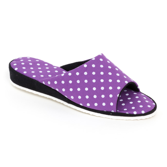 c31a64d74ef8 Dámske papuče fialové bodky zväčšiť obrázok