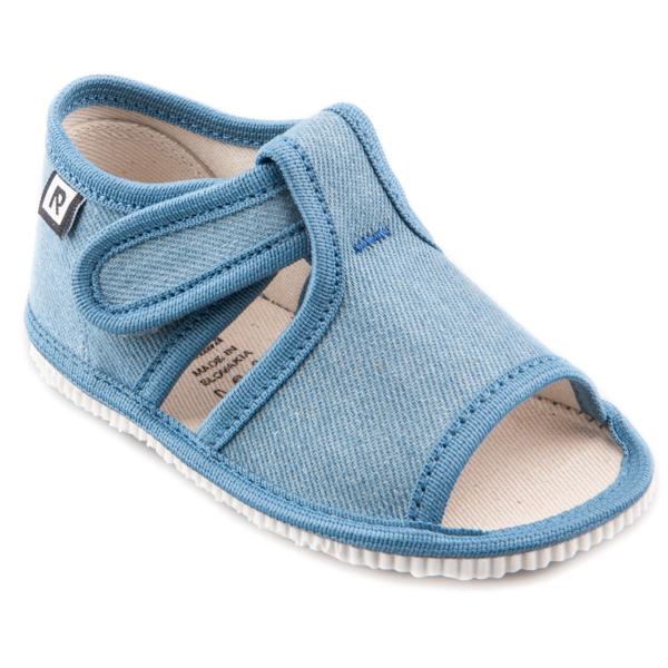 59c27358f Detská obuv - papuče s uzavretou špicou riflové - Prezuvky.sk