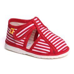 Papuče červený pásik
