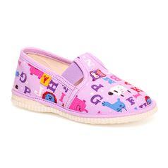 Papuče fialová abeceda