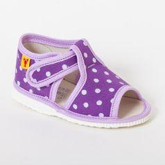 Papuče fialová bodka