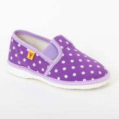 Papuče fialové bodky