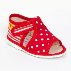 Papuče mix červená
