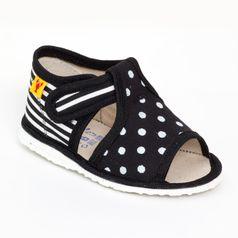 Papuče mix čierna