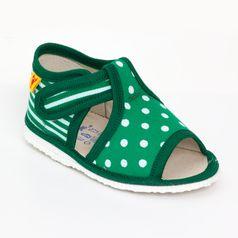 Papuče mix zelená