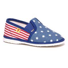 Papuče motív USA