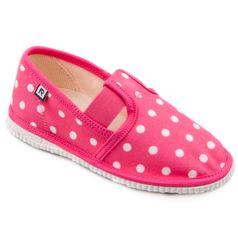 Papuče ružové bodky