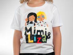 Detské tričko - Mimi & Líza white