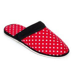Pánske papuče červená bodka
