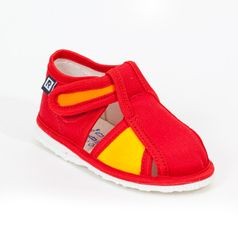 Papuče červeno žlté