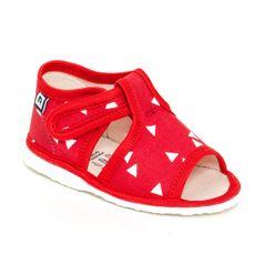 Papuče červený trojuholník