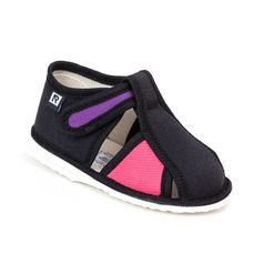 Papuče čierno ružové