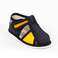 Papuče čierno žlté