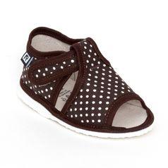 Papuče hnedá bodka