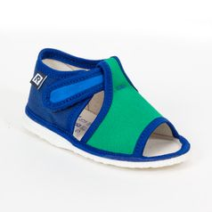 Papuče modro zelené