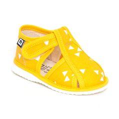 Papuče žltý trojuholník