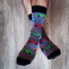 Ponožky unisex - Autičkár šedý