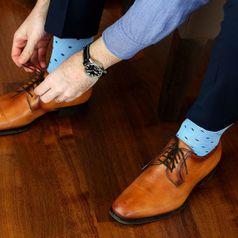 Ponožky unisex - Gentleman belasý bambus