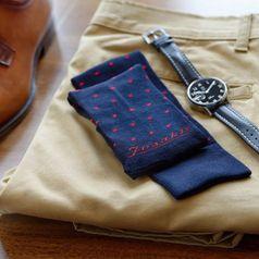 Ponožky unisex - Gentleman červenobodkáč bambus
