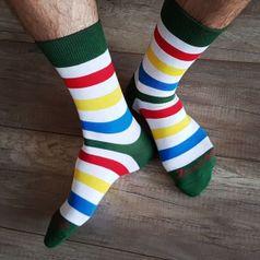 Ponožky unisex - Zebrič farebič