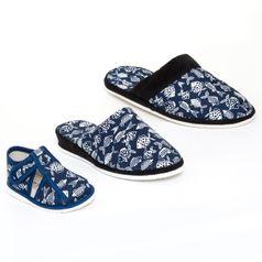 Rodinné balenie - dámske, pánske a detské papuče RYBY MODRÉ