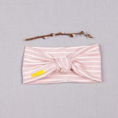 Čelenka ružový pásik- GOTS
