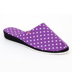 Dámske papuče fialové bodky