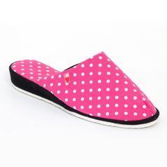 Dámske papuče ružové bodky