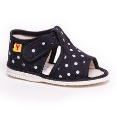 Papuče čierna bodka
