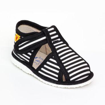 Papuče čierny pásik