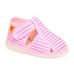 Papuče ružový pásik