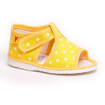 Papuče žltá bodka