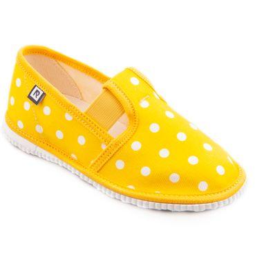 Papuče žlté bodky