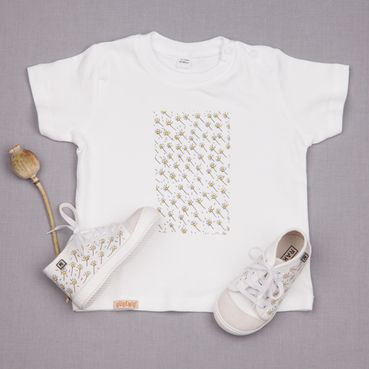 Dupla tenisky a tričko GOTS - Biela lúka