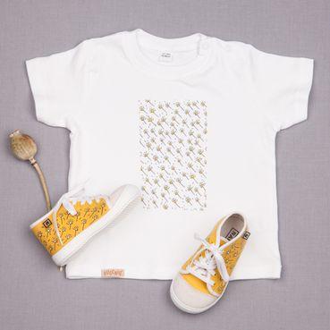 Dupla tenisky a tričko GOTS - Žltá lúka