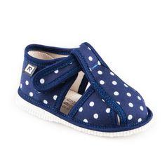 Papuče modrá bodka