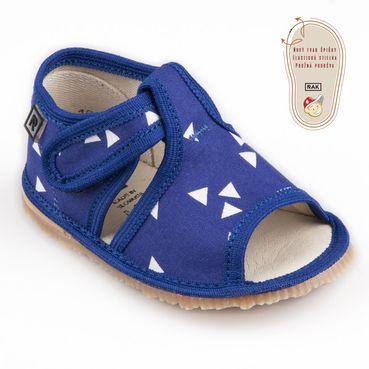 Papuče modrý trojuholník