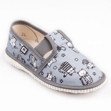 Papuče šedé mačky