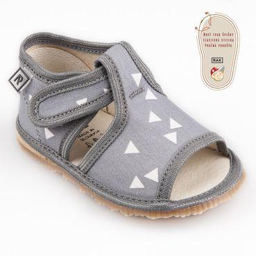 Papuče šedý trojuholník