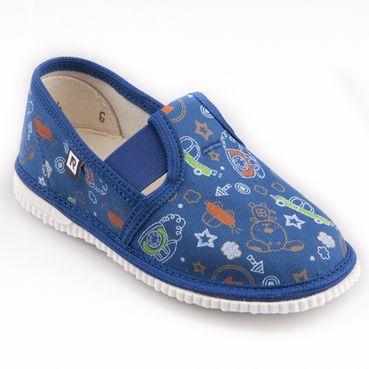 Papuče telefón modré