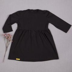 Šaty čierne riasené GOTS
