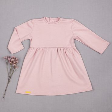 Šaty ružové riasené GOTS