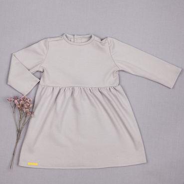 Šaty šedé riasené GOTS