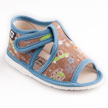 Papuče telefón modrá lemovka
