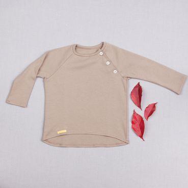 Tričko pieskové dlhý rukáv - GOTS