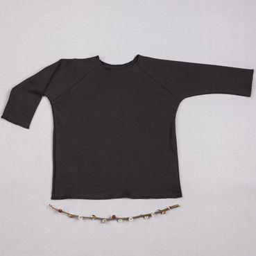 Tričko čierne dlhý rukáv - GOTS