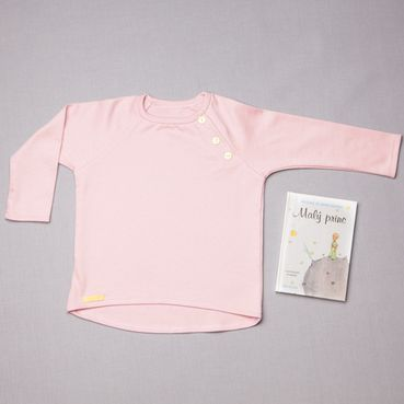 Tričko ružové dlhý rukáv - GOTS